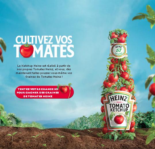 10′000 Paquets Graines de tomates Heinz Gratuit à gagner !