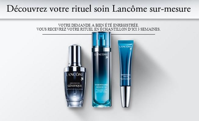 3 Échantillons Gratuits rituel beauté quotidien de Lancôme !