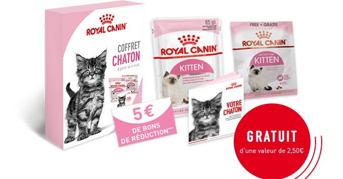 Royal Canin : Kit alimentation chaton gratuit