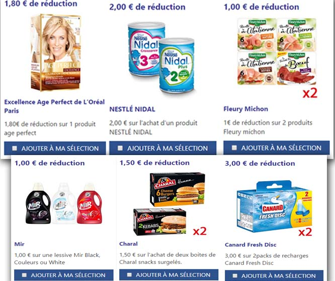 les bon de reduction alimentaire