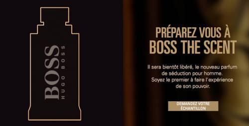 Echantillon Gratuit parfum Boss The Scent