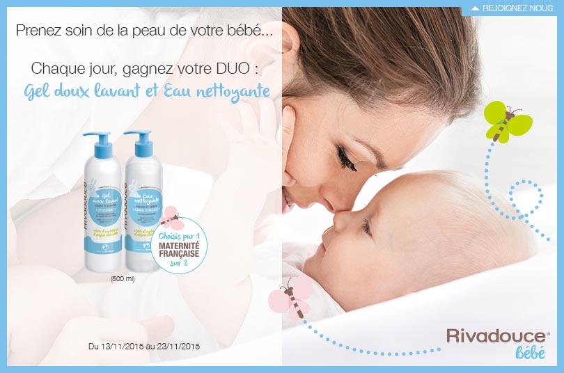Instant Gagnant Rivadouce bébé 10 duos gel et eau nettoyante à gagner !