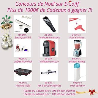 Jeu Concours E-coiff plus de 1000€ de cadeaux à gagner !