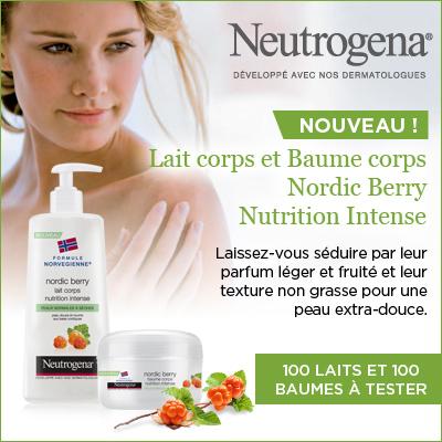 Test Prduit : 100 Lait et 100 Baume corps nordic berry Neutrogena