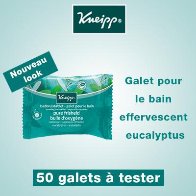 Test Produit : 50 Galets de bain effervescent Eucalyptus à tester !