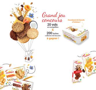 200 boîtes collector de biscuits 20 vols en montgolfière à gagner !