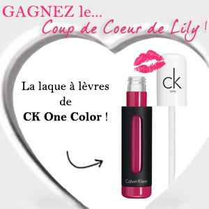 90 Laques à lèvres CK One Color de Calvin Klein à gagner !