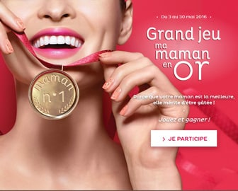 """Instant gagnant Nocibé """"Ma Maman en Or"""" : 45 médailles en or à gagner !"""