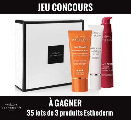 Participer au Jeu Concours Marie France, et tenter de gagner l'un des 35 lots de 3 produits Esthederm mis en jeu.