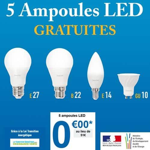 5 Ampoules LED Gratuites - Mes Ampoules Gratuites !