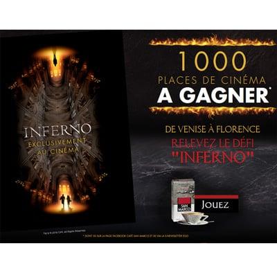 Gagner 1000 places de cinéma gratuites pour le film Inferno !
