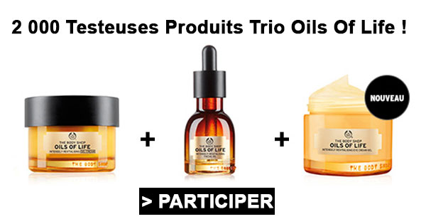 2000 Testeuses produits Trio Oils Of Life !