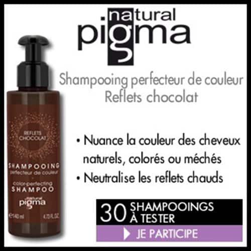 30 Shampooing Perfecteur Reflets Chocolat Natural Pigma à tester !