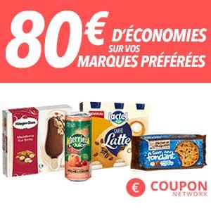 Bons de réduction de Coupon Network éconosez jusqu'à 80€ !