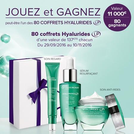 Gagner un cadeau gratuit : 80 coffrets Hyalurides Dr Pierre Ricaud !