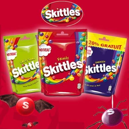Test Gratuit 200 Paquets de Bonbons Fruités à Mâcher Skittles Fruits !