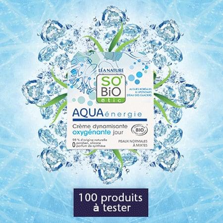 Test gratuit 100 Crèmes Dynamisante Oxygénante Jour - Aqua Énergie !
