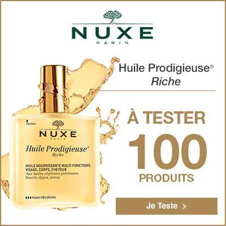 100 Huiles Prodigieuse Riche de NUXE à tester !