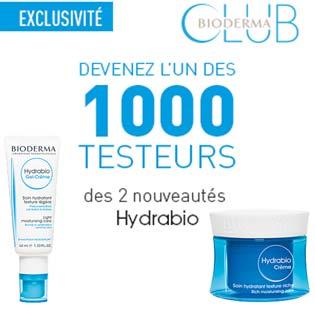 1000 Testeurs produits soins Hydrabio de bioderma à tester !