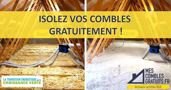 Isolation GRATUITE Combles Perdus - MesComblesGratuits.fr