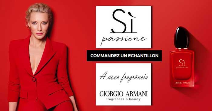 Échantillon Gratuit Parfum Si Passione de Giorgio Armani