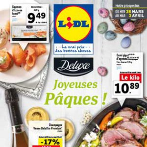 Catalogue Lidl Du 28 Mars Au 03 Avril 2018