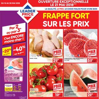 Catalogue Leader Price Du 15 au 20 Mai 2018