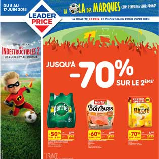 Catalogue Leader Price Du 05 Au 17 Juin 2018