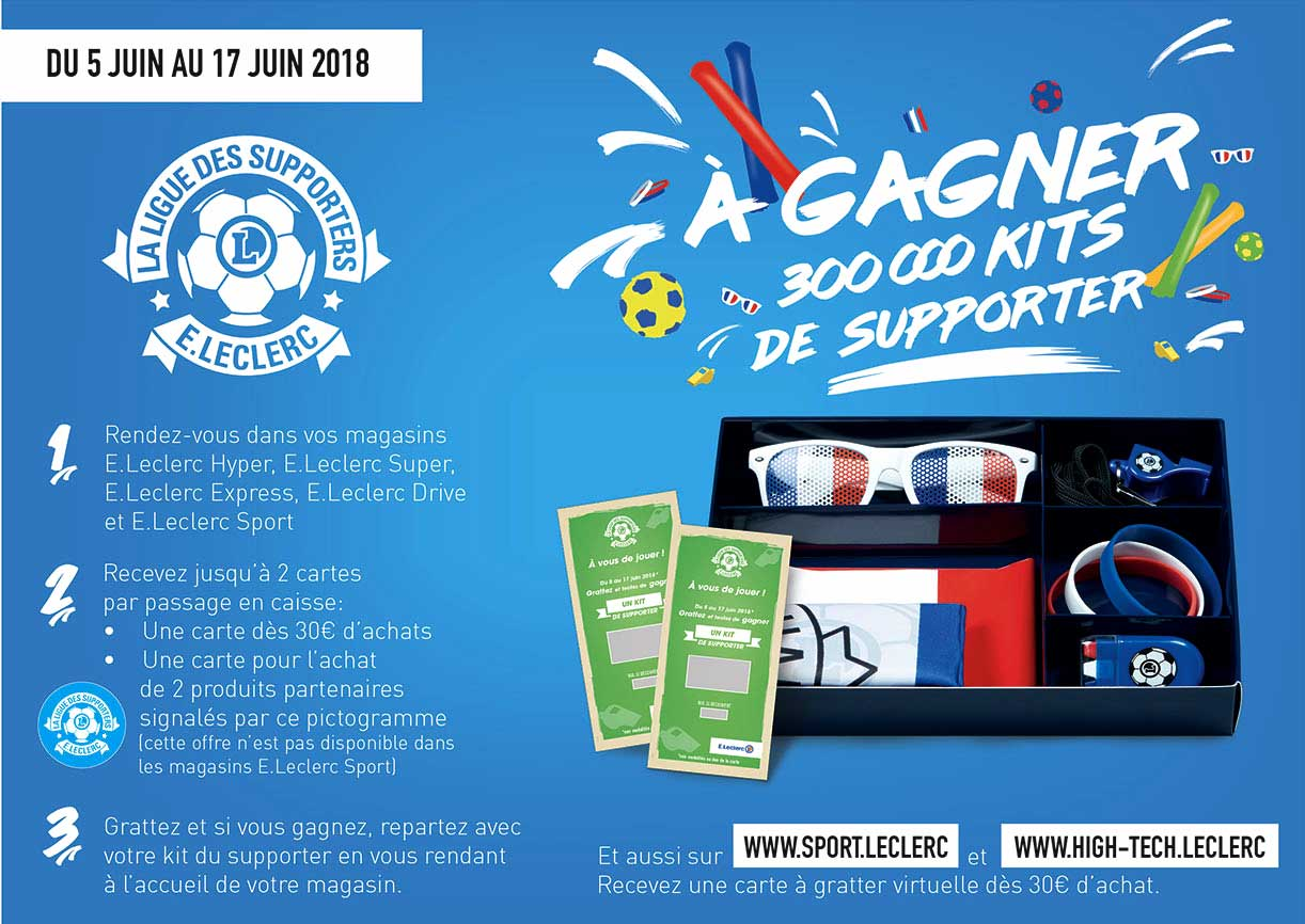 Jeu La Ligue des Supporters E.Leclerc Maxi Formats Maxi Économies