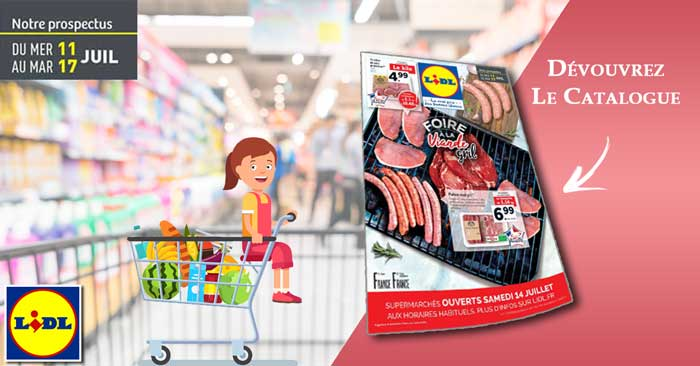 Catalogue Lidl Du 11 Au 17 Juillet 2018