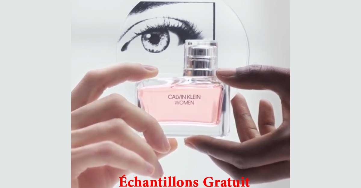 Échantillon Gratuit du Parfum Calvin Klein Women par Marionnaud