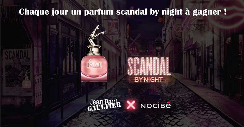 "Jeu Nocibé : 30 parfums Jean Paul Gaultier ""Scandal by Night"" à gagner"