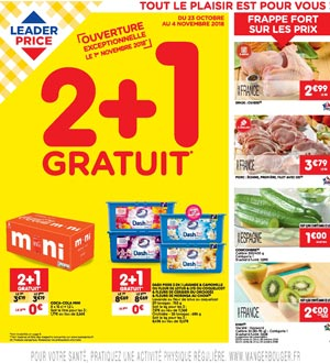 Catalogue Leader Price Du 23 Octobre Au 4 Novembre 2018