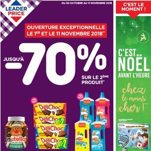 Catalogue Leader Price Du 30 Octobre Au 11 Novembre 2018