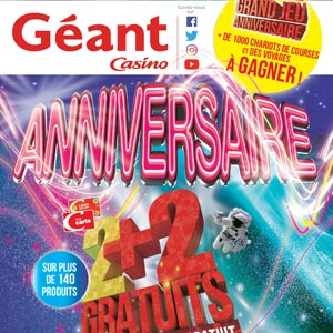 Catalogue Géant Casino Du 2 Au 14 Octobre 2018