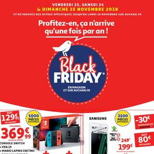 Catalogue Auchan Black FRIDAY Du 23 Au 25 Novembre 2018