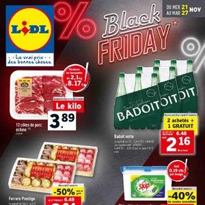 Catalogue Lidl Du 21 Au 27 Novembre 2018 promotions Black Friday
