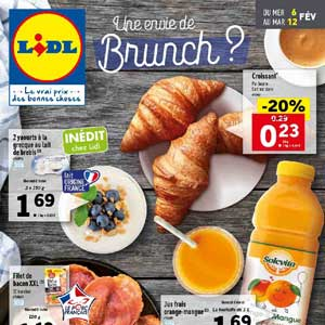 Catalogue Lidl Du 6 Au 12 Février 2019 Une envie de Brunch ?