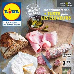 Catalogue Lidl de la semaine Du 26 Février Au 3 Mars 2020