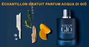 Échantillons gratuits parfum Acqua di Giò de Giorgio Armani