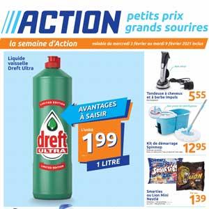 Catalogue Action en ligne Du 3 Au 9 Février 2021
